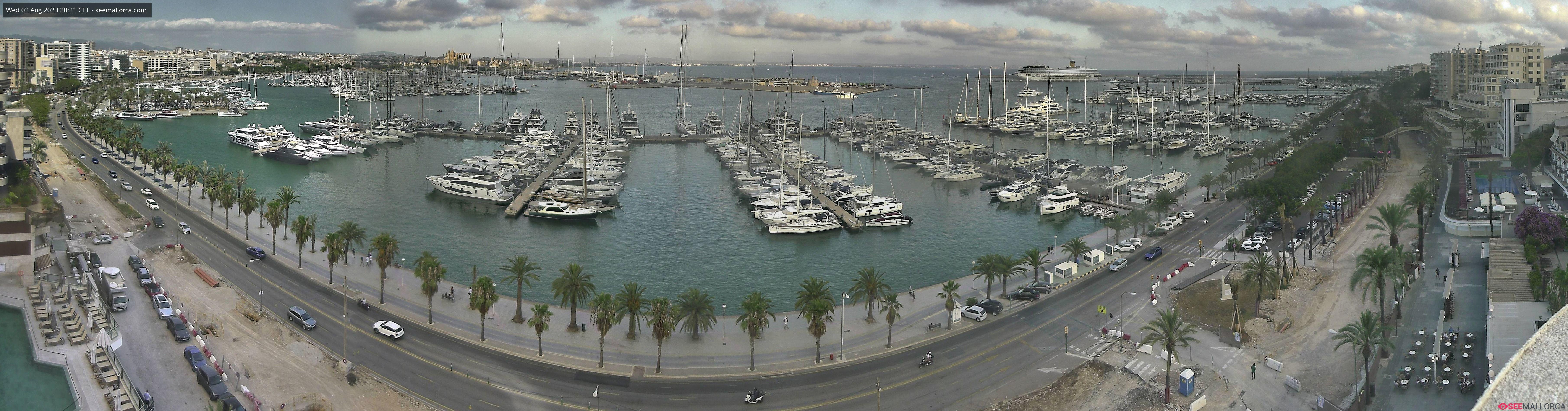 Онлайн веб камера Испания набережная Пальма-де-Майорка